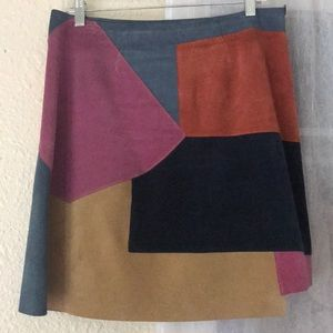 Anthropologie M.I.H Jeans Patchwork Suede Skirt